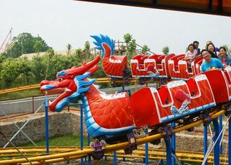 Adjustable Speed Kiddie Dragon Coaster , Outdoor Amusement Park Rides