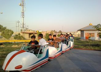 Space Train Design Kiddie Roller Coaster Customized Capacity For Children / Adults