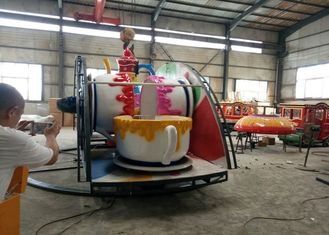 China Indoor / Outdoor Teacup Amusement Ride With Under Base And Transmission System supplier
