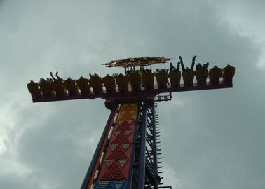 China Scary Adults Drop Tower Amusement Ride With Special Lights And Sound System supplier