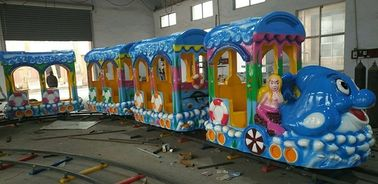 14 Seats Funfair Kiddie Train Ride With Gorgeous LED Lights And Exciting Music