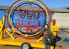 FRP Material 3D Space Ring Rides , 2/4/6 Seats Mobile Human Gyro Ride