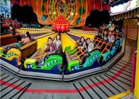 Thrilling Amusement Park Rides Games , Customized Size Flying Disco Tagada Rides